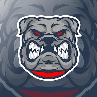 Modello logo bulldog
