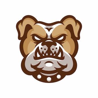 Bulldog - vector logo / icona illustrazione mascotte