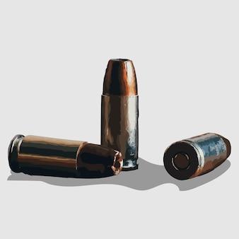 Illustrazioni e vettoriali disegnati a mano ritratto di proiettile