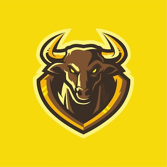 Bulls esport logo design gaming