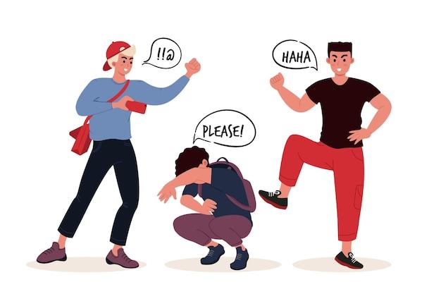 Illustrazione di concetto di bullismo