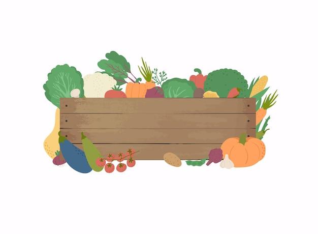 Mazzo di verdure fresche illustrazione