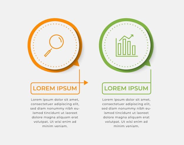 Bundle infografica aziendale impostato con diagramma di processo diagramma di flusso informazioni grafico