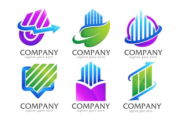 Bundle collezione di logo di finanza creativa