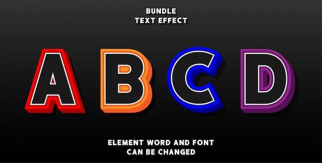Bundle effetto di testo modificabile