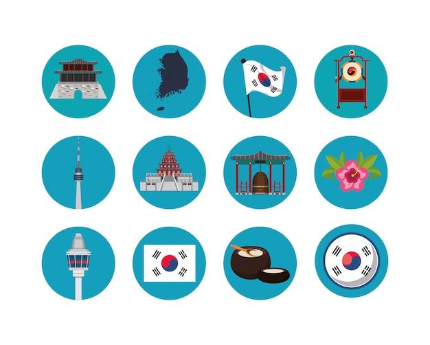 Fascio di icone della cultura giapponese