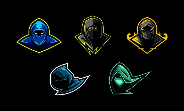 Set di set mascotte ninja
