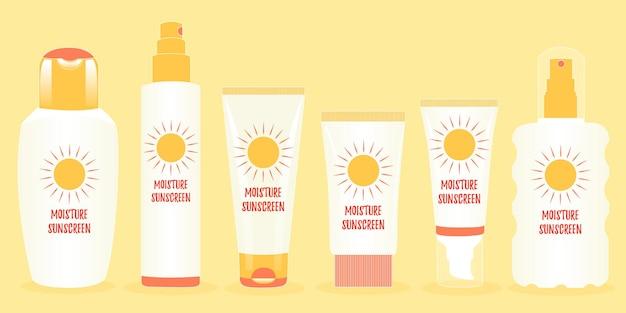 Bundle confezioni vasetti protezione dal sole radiazione solare ultravioletta umidità crema solare
