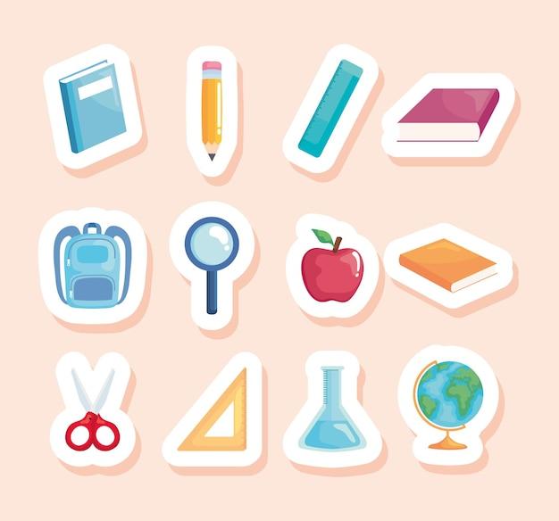 Pacchetto di materiale scolastico