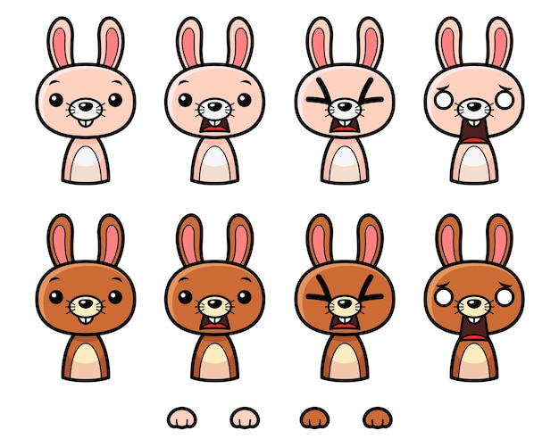 Bunny game sprites