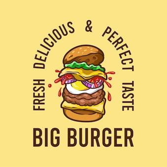 Hamburger grande hamburger di carne fast food