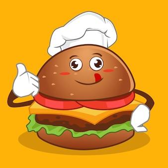 Cartone animato di hamburger