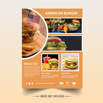 Burger flyer for reataurent