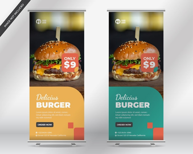 Modello di volantino per hamburger