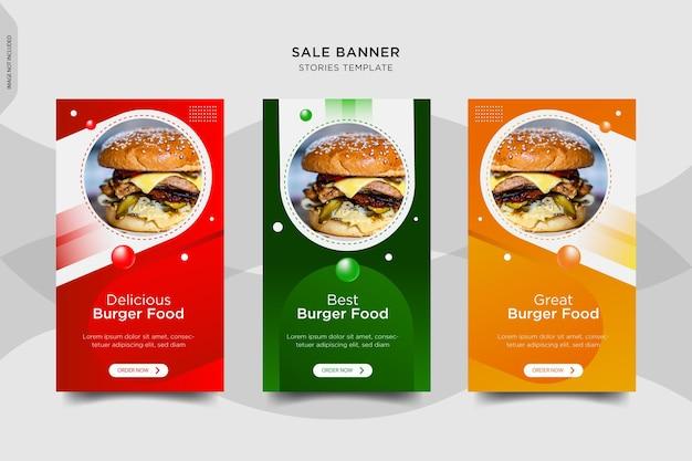 Burger instragram storie banner design