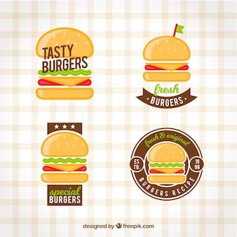 Collezione logo burger