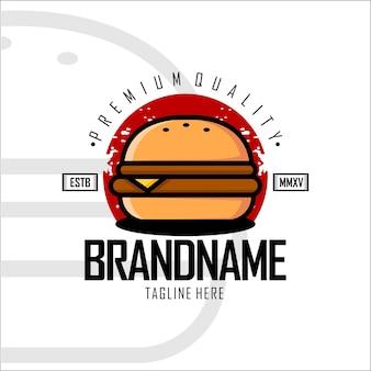 Modello con logo burger b