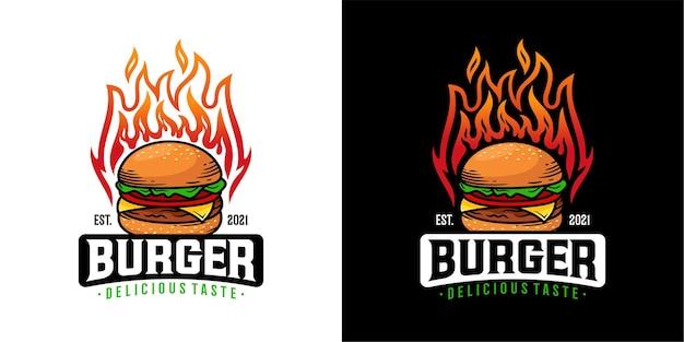 Modello di logo di hamburger