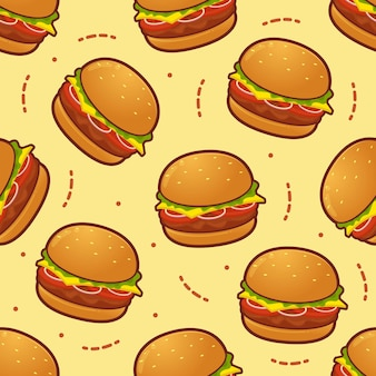 Modello senza cuciture di hamburger