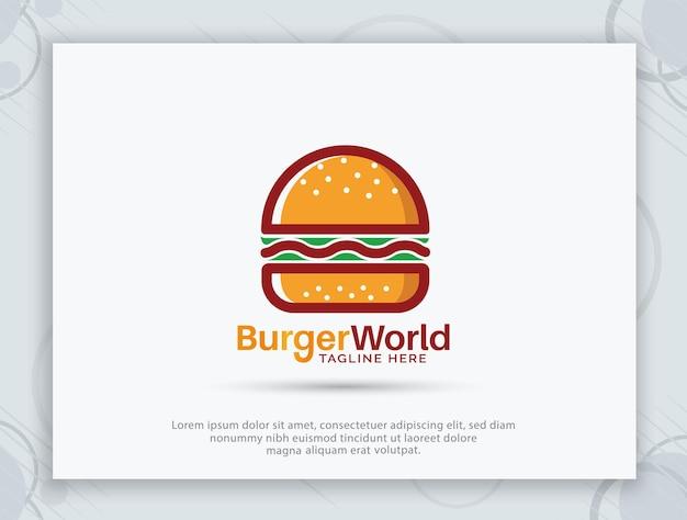 Design del logo del negozio di hamburger