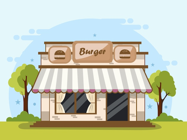 Negozio di hamburger