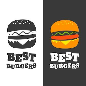 Emblema di vettore di hamburger