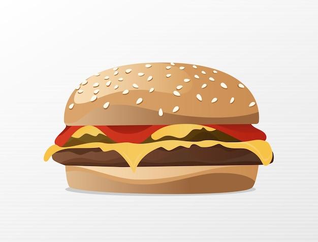Hamburger con panini al sesamo e stuzzicanti sfoglie di formaggio