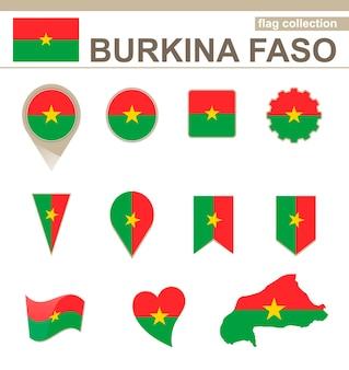 Collezione bandiera burkina faso, 12 versioni