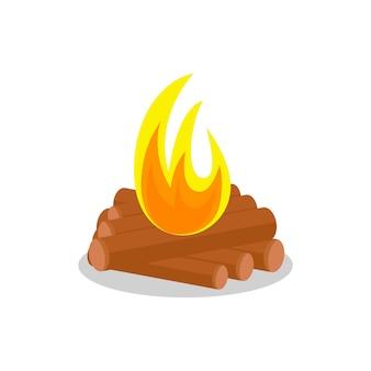 Legna da ardere del falò ardente