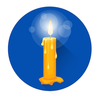 Icona di festa di halloween di religione di religione della candela bruciante