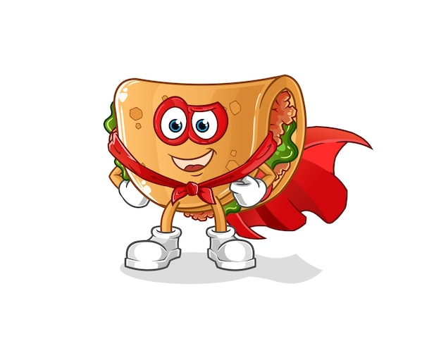 Eroi del burrito. personaggio dei cartoni animati