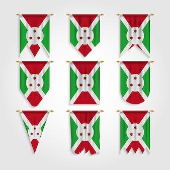 Bandiera del burundi in diverse forme, bandiera del burundi in varie forme