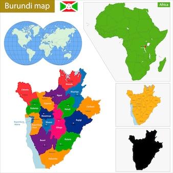 Mappa del burundi