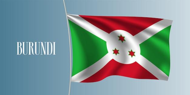 Burundi sventolando bandiera