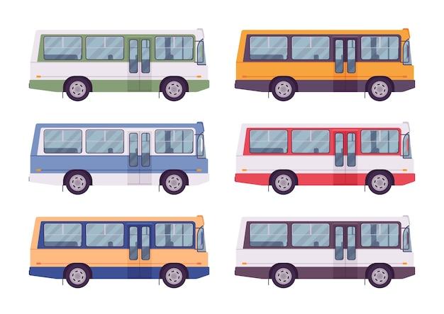 Autobus impostato in colori vivaci