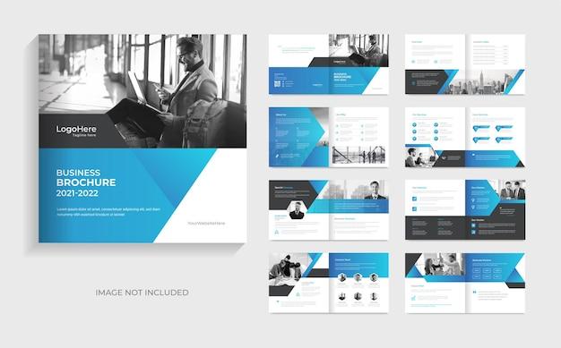 Modello di brochure aziendale da 16 pagine con layout moderno vettore premium