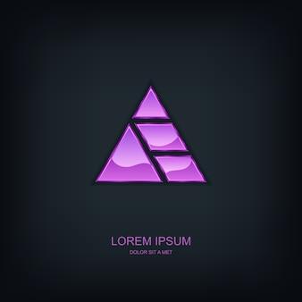 Logo dell'emblema del modello astratto di affari, idea universale di tecnologia aziendale