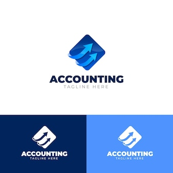 Raccolta di logo di contabilità aziendale