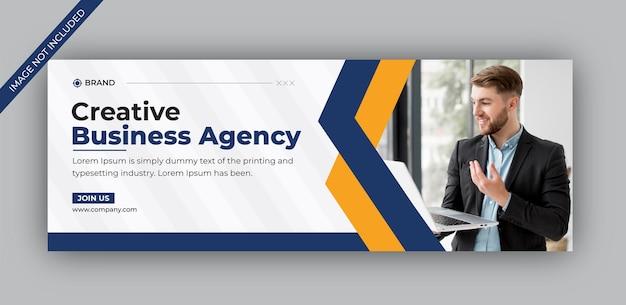 Modello di copertina facebook per agenzia di affari