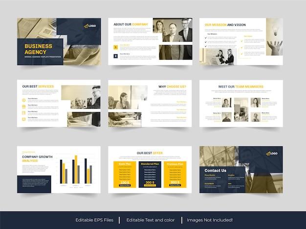 Modello di diapositive per agenzia di affari