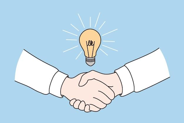 Accordo commerciale e concetto di affare Vettore Premium