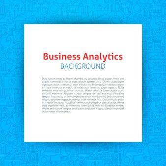 Modello di analisi aziendale. illustrazione vettoriale di carta su disegno di contorno.