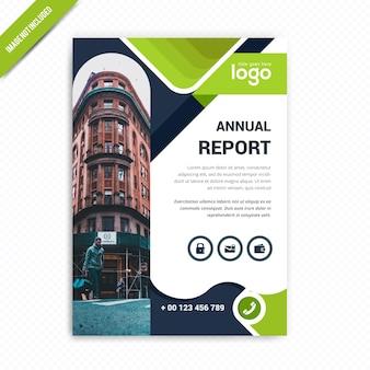 Progettazione del volantino del rapporto annuale di affari