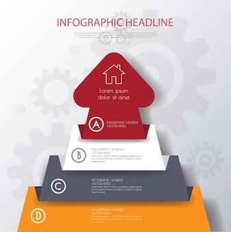 Modello di freccia aziendale può essere utilizzato per il web design del diagramma banner del layout del flusso di lavoro