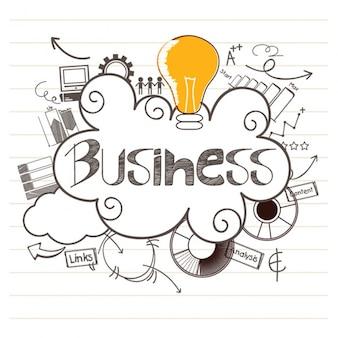 Sfondo di affari con colorato la lampadina