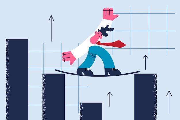 Illustrazione di opportunità e sviluppo di equilibrio aziendale