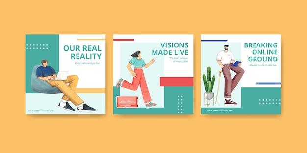Set di modelli di banner aziendali