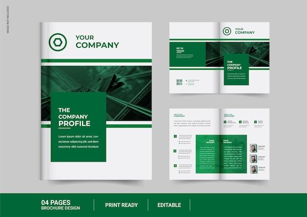 Design brochure aziendale bi fold