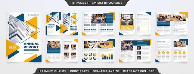 Modello di brochure aziendale bifold stile premium
