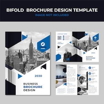 Modello di brochure business bifold